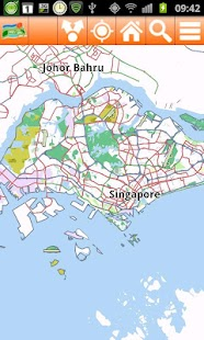 Singapore Offline mappa Map - screenshot thumbnail