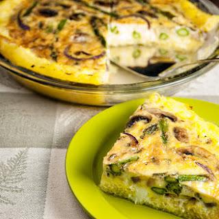 Asparagus And Mushroom Spaghetti Squash Quiche