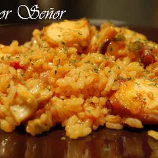 Baked Rice with Octopus.