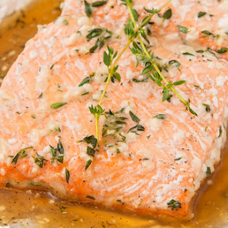 Baked Salmon With Honey and Thyme.
