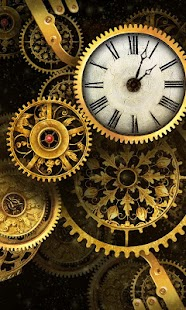 FREE Gold Clock Live Wallpaper- screenshot thumbnail