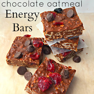 No-bake Chocolate Oatmeal Energy Bars