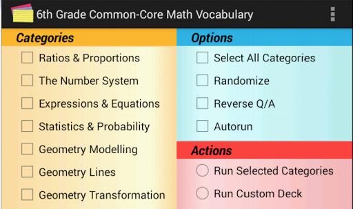 Common-Core Grade 6 Math Vocab