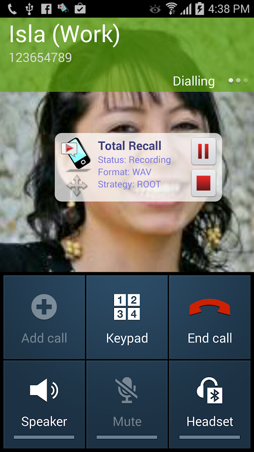 Call Recorder S7- screenshot