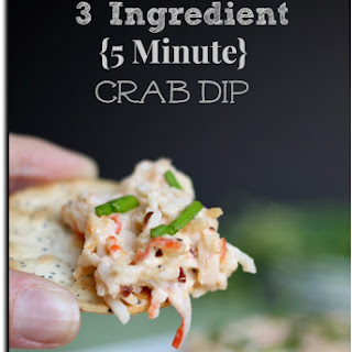 3 Ingredient {5 Minute} Crab Dip