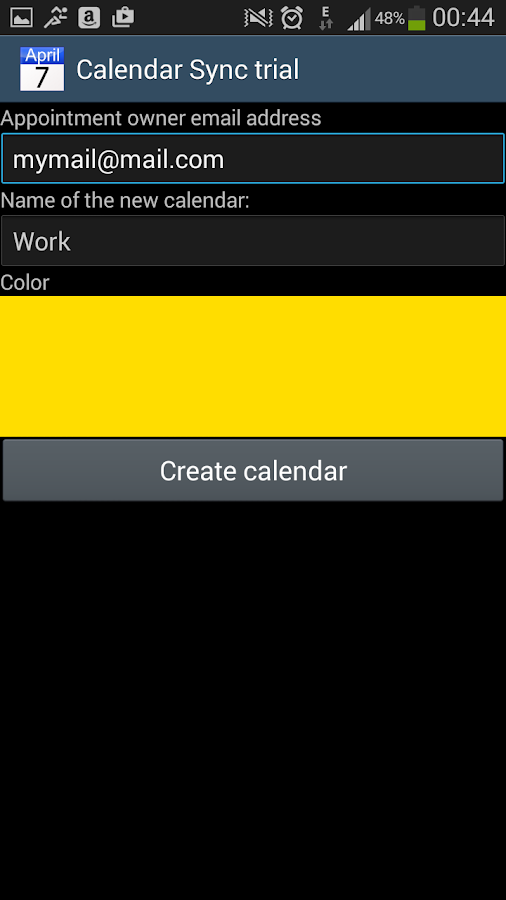 CalendarSync - trial- screenshot