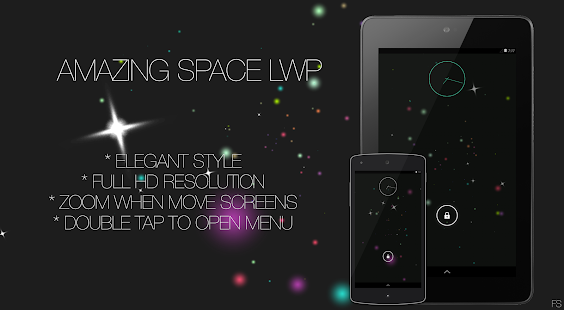 Amazing Space LWP- screenshot thumbnail