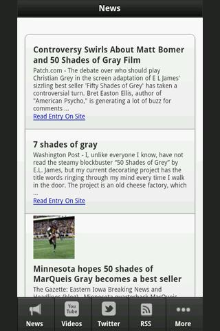 50 Shades of Gray News - screenshot