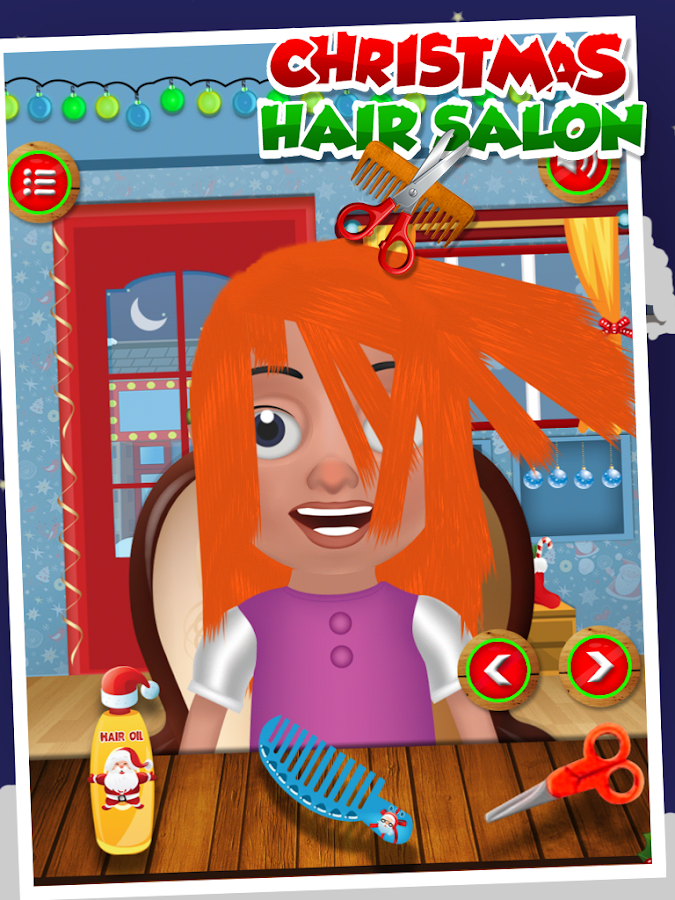 Gameimax this christmas brings for you an attractive hair salon game