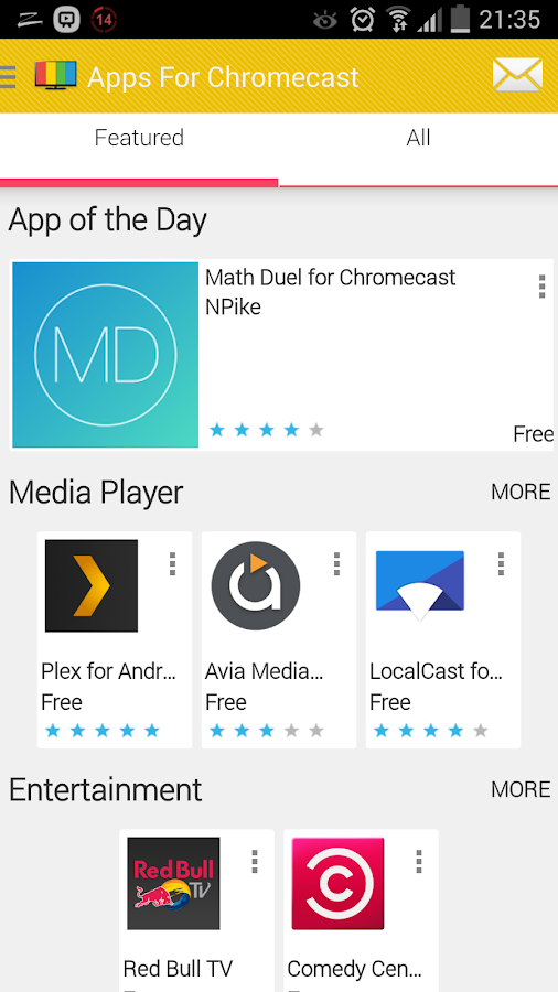 Top Chromecast Apps & Games- screenshot