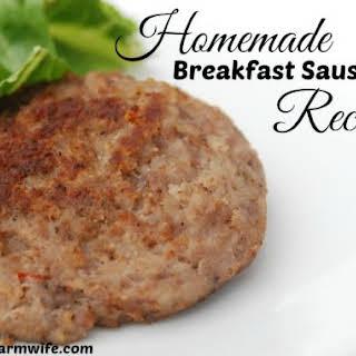 Homemade Sausage.