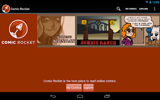 Screenshot of Comic Rocket webcomic reader