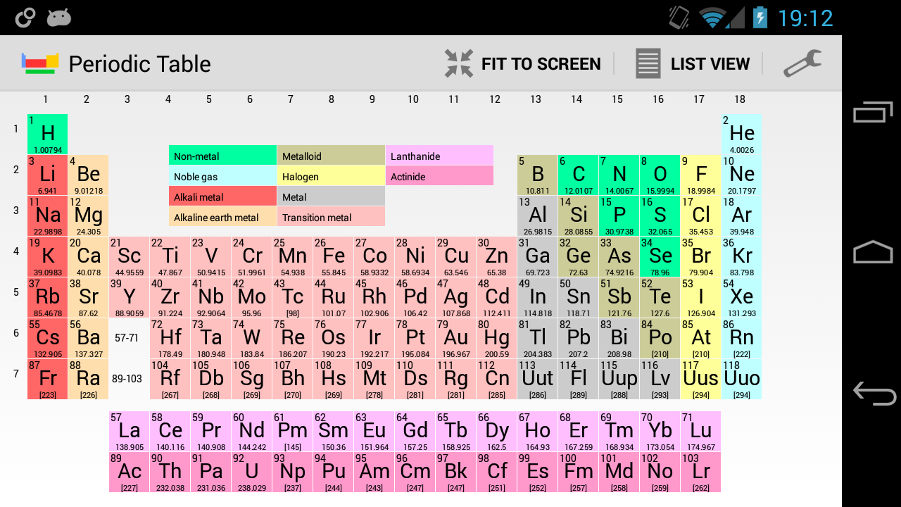 Periodic table of elements pro android apps on google play for 99 periodic table