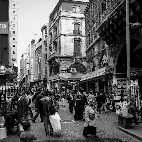 Streets of Istanbul by Bobby Palosaari - City,  Street & Park  Street Scenes ( intersection, europe, street, istanbul, people, turkish, melting pot, market, lifestyle, asia, shopping, turkey, spice market, culture )