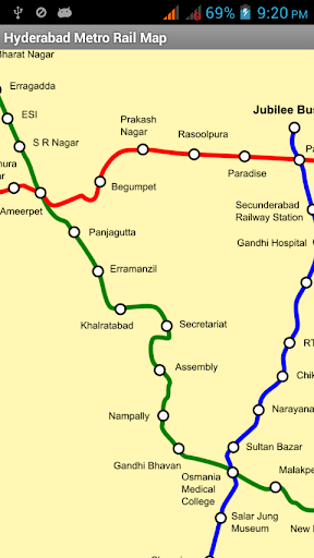 Hyderabad Metro Rail Map
