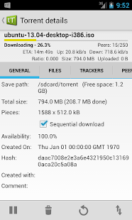 tTorrent - Torrent Client App - screenshot thumbnail