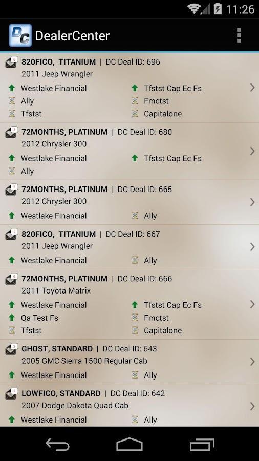 DealerCenter Mobile - screenshot