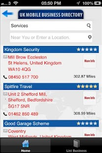 UK Mobile Business Directory- screenshot thumbnail