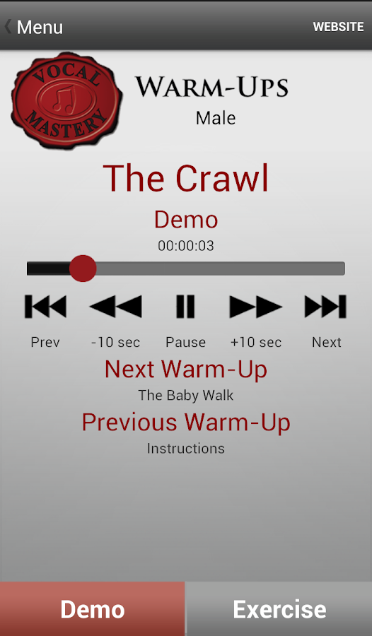 Vocal Mastery Warm-Ups- screenshot