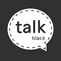 Stitch BLACK : KakaoTalk Theme icon