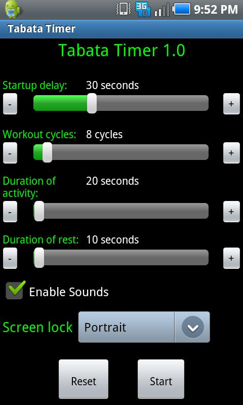 Tabata Timer- screenshot
