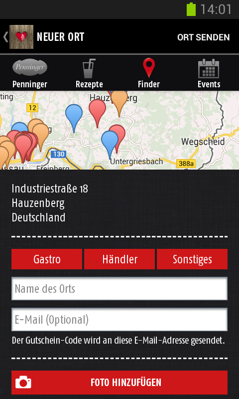 Penninger-App- screenshot