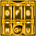 GO Keyboard Gold Tech Theme icon
