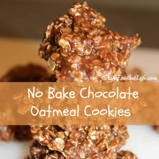 No Bake Chocolate Oatmeal Cookies.