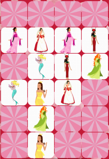 Princess Match Memory Game - screenshot