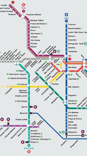 상파울루 지하철 노선도