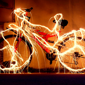 The 'electrifying' Bicycle ride by Arjun Sehrawat - Abstract Patterns