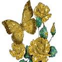 Shimmering Butterfly Golden logo