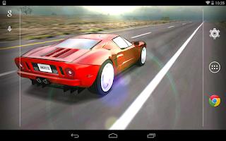 Screenshot of 3D Car Live Wallpaper Free