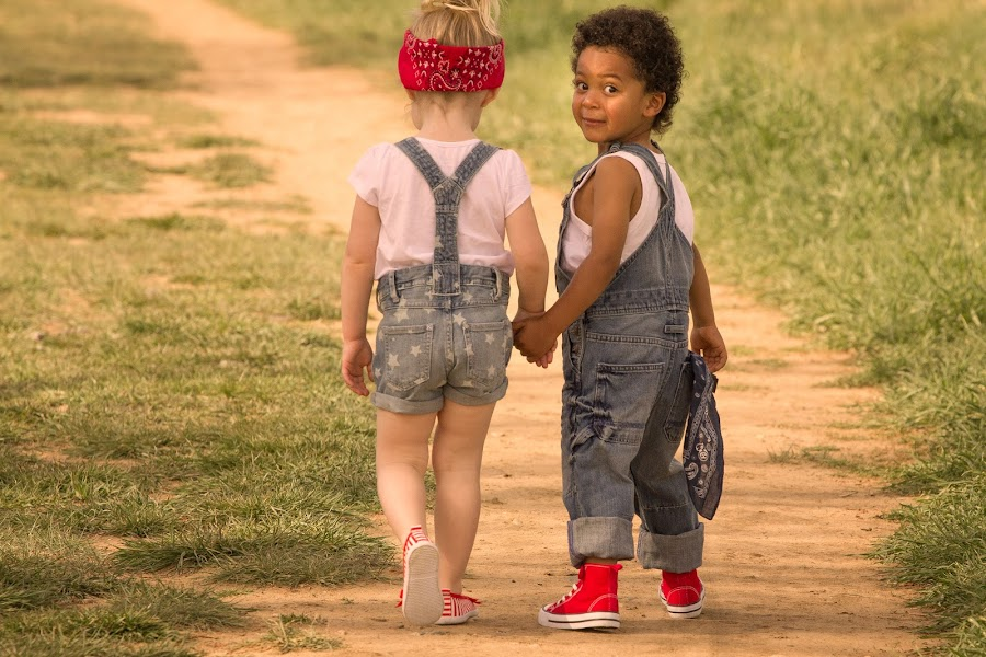 by Richard Saxon - Babies & Children Children Candids ( kids in the summer, young boy, trail, children, young girl, young couple, strolling )