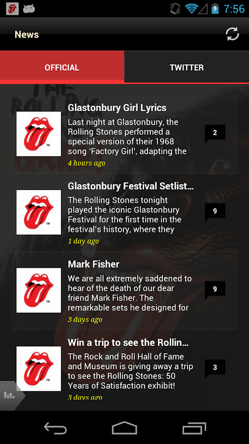 Official Rolling Stones - screenshot
