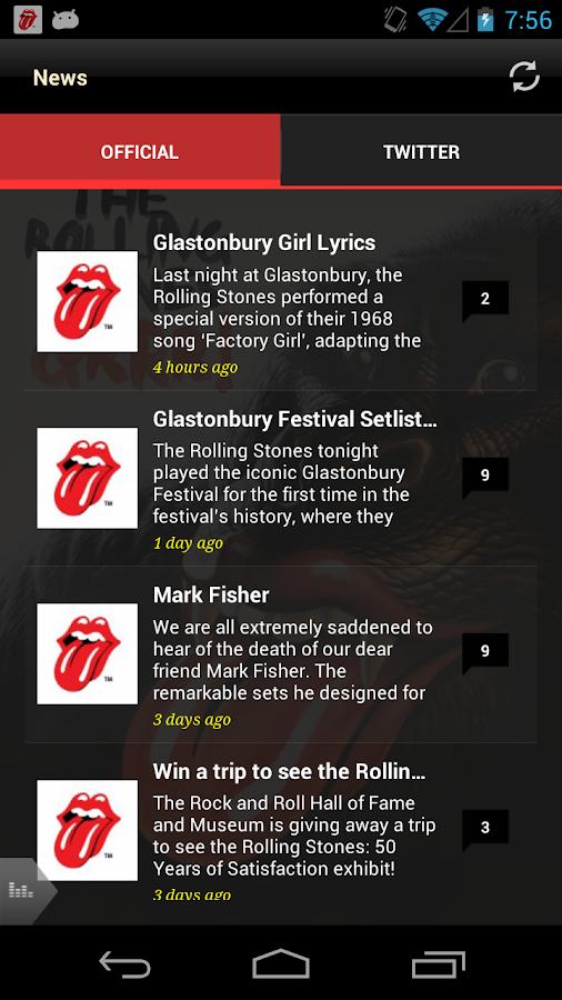 Official Rolling Stones - screenshot