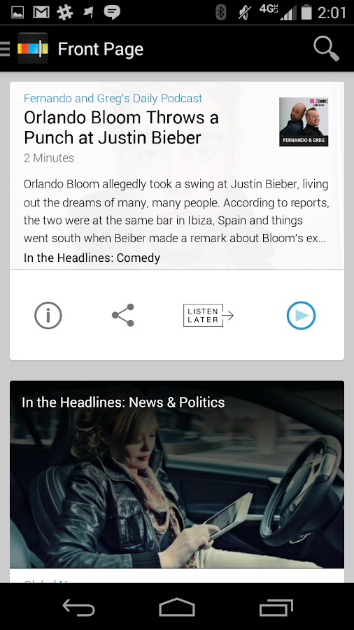 Stitcher Radio for Podcasts - screenshot