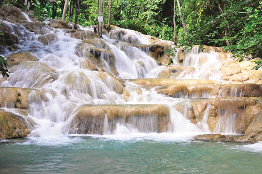 Dunn's River Falls, the top tourist attraction in Ocho Rios, Jamaica.