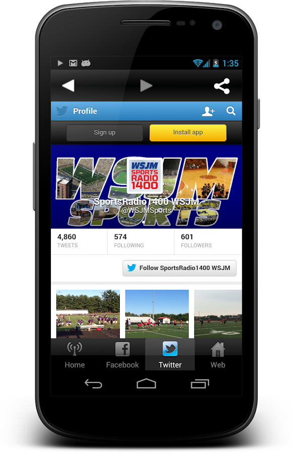 WSJM Sports- screenshot