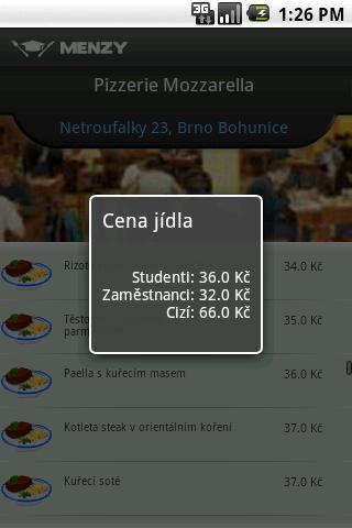 Menzy- screenshot