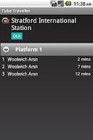 Screenshot of London Tube Traveller