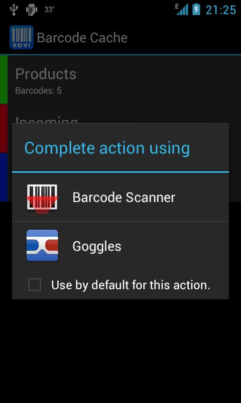 Barcode Cache - screenshot