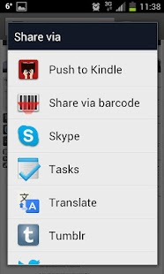 Push to Kindle- screenshot thumbnail