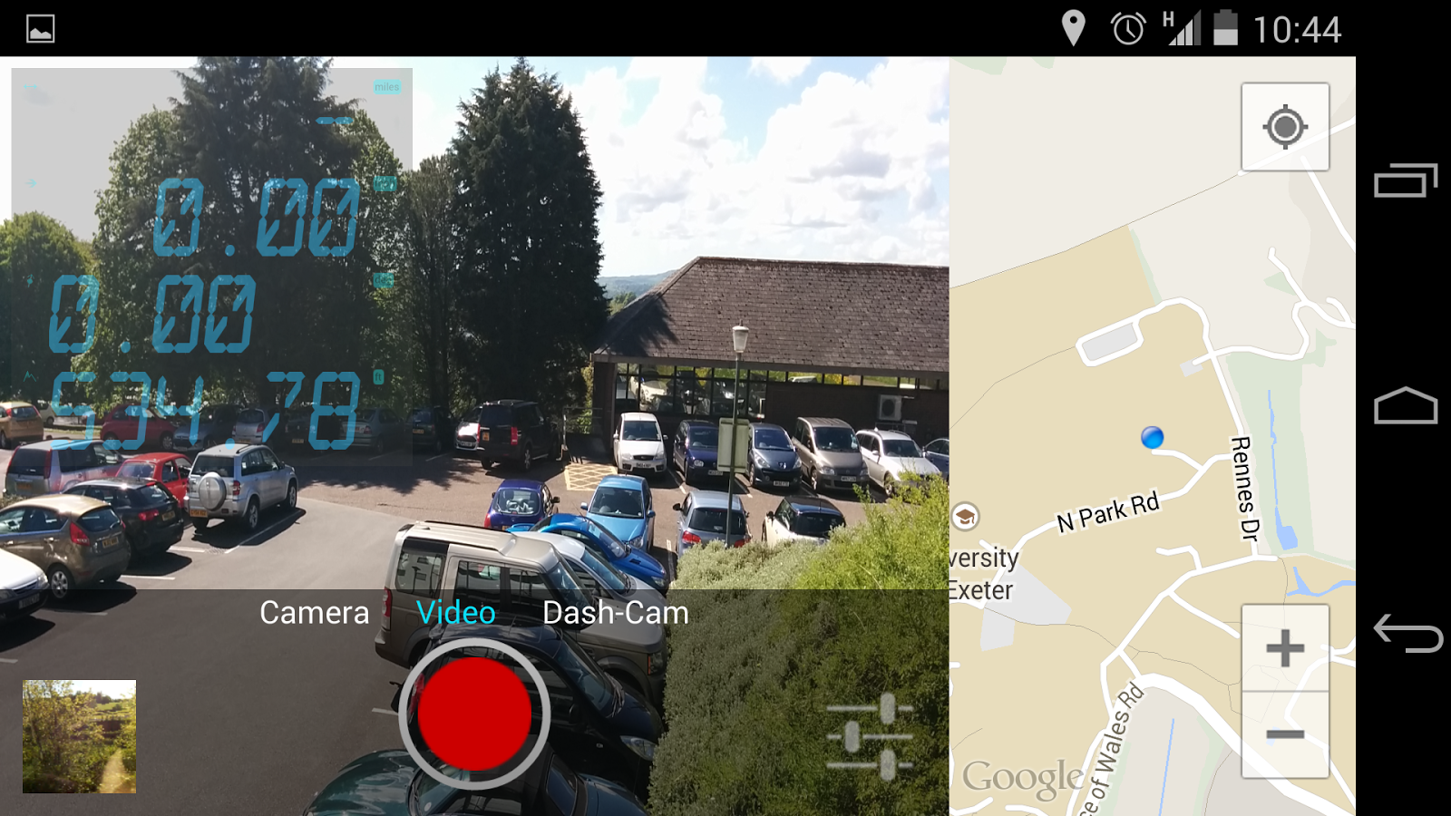 RouteShoot video and GPS app- screenshot