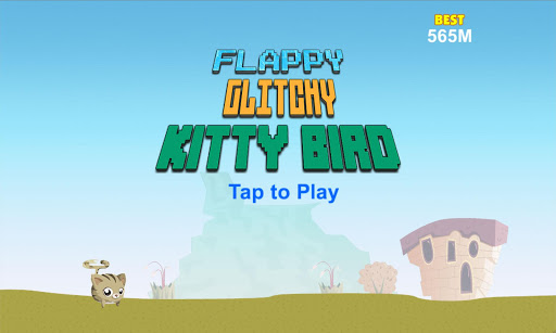 Flappy Glitchy Kitty Bird