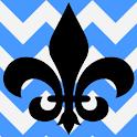 Fleur De Lis Blue Theme icon