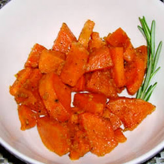 Baked Sweet Potatoes with Ginger and Honey.