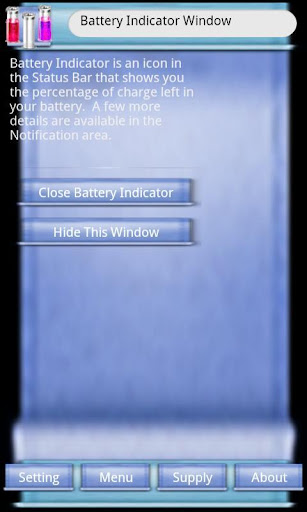 Battery Indicator Window