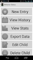 Screenshot of Behavior Status