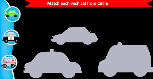 Toddler Puzzle:Vehical Match